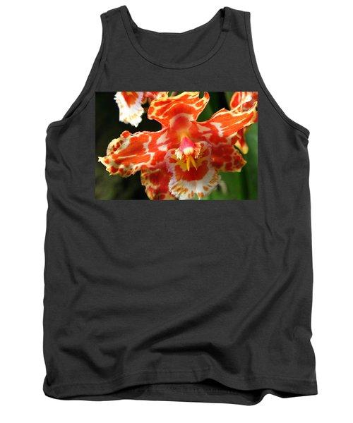 Orange Orchid Tank Top