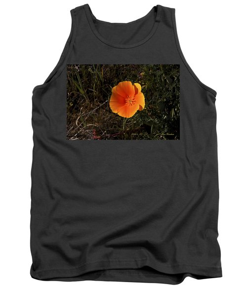 Orange Signed Tank Top