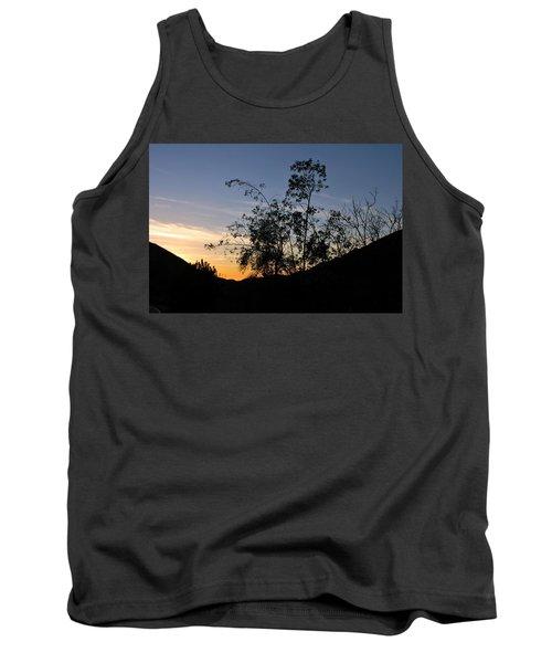Orange Sky Nature Silhouette Tank Top