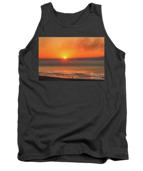Orange Sunrise On Long Beach Island Tank Top