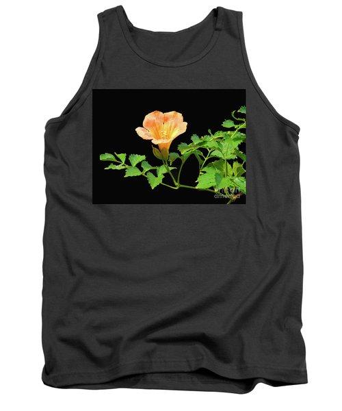 Orange Trumpet Flower Tank Top by Susan Lafleur