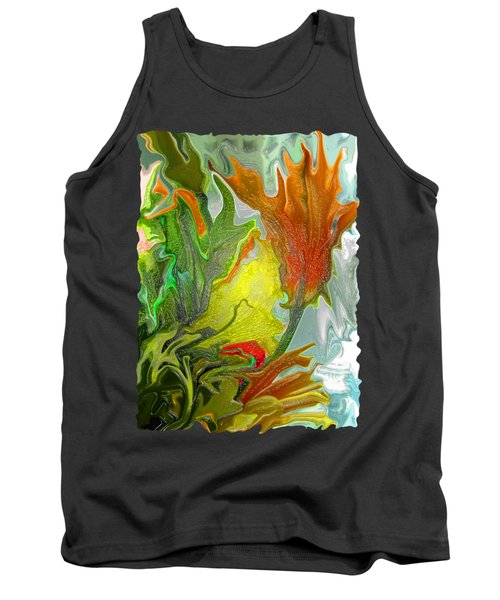 Orange Tulip Tank Top