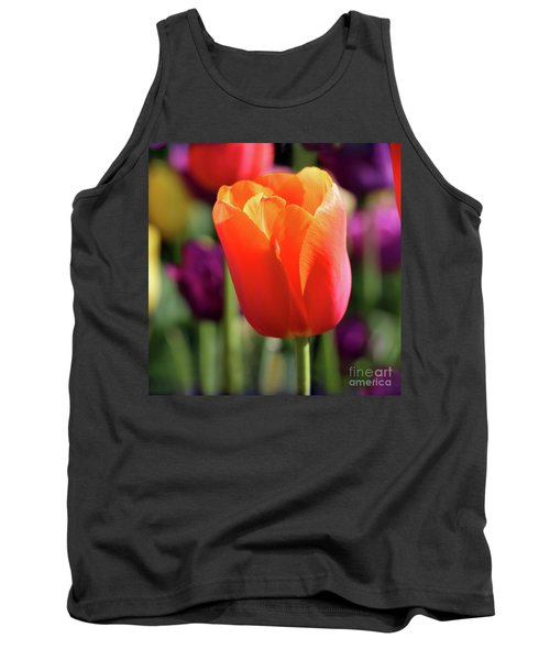 Orange Tulip Square Tank Top