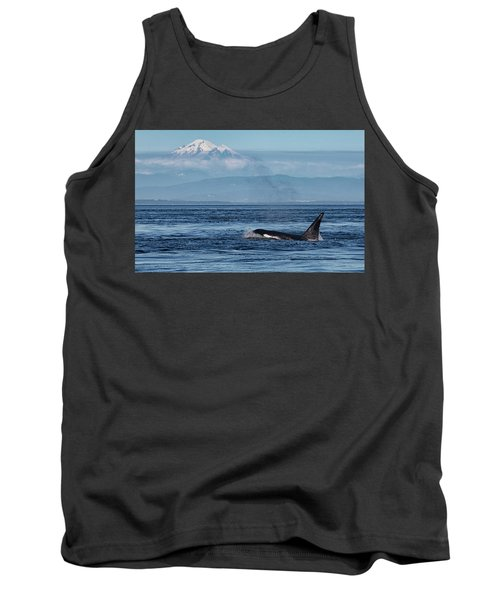 Orca Male With Mt Baker Tank Top