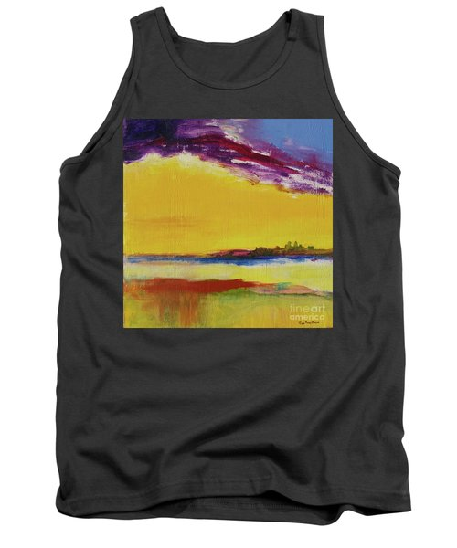 Tank Top featuring the painting Orchid Sky by Robin Maria Pedrero