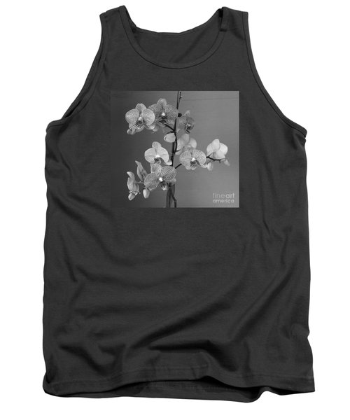 Orchids Black And White Tank Top