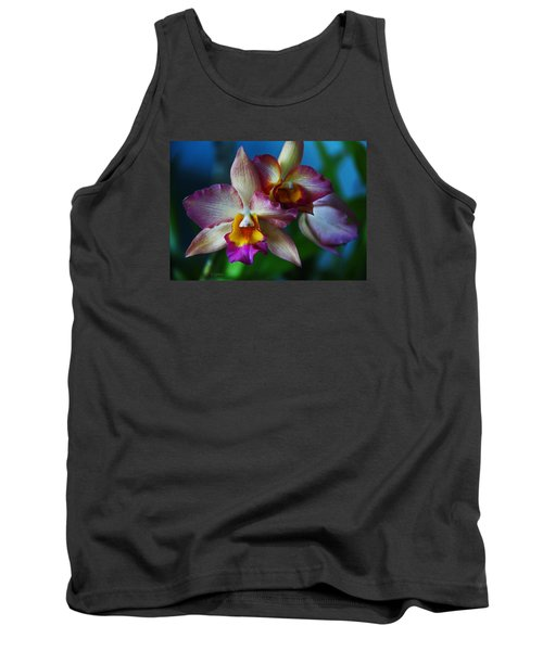 Tank Top featuring the photograph Orchids - Trio by Kerri Ligatich