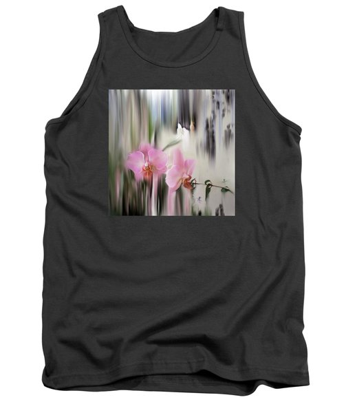 Orchids With Dragonflies Tank Top