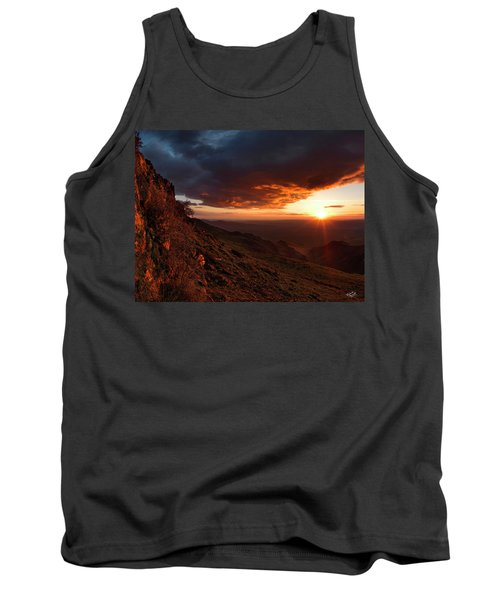 Tank Top featuring the photograph Oregon Mountains Sunrise by Leland D Howard