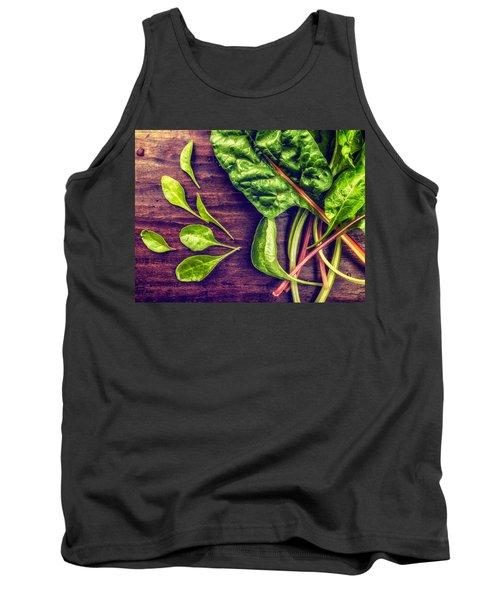 Organic Rainbow Chard Tank Top