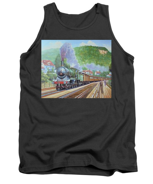 Tank Top featuring the painting Orient Express 1920 by Mike Jeffries