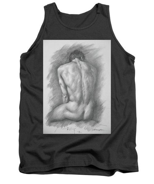 original Drawing male nude man #17325 Tank Top