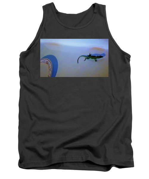 Tank Top featuring the photograph Oscar The Lizard by Denise Fulmer