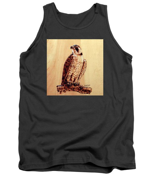 Tank Top featuring the pyrography Osprey 2 Pillow/bag by Ron Haist