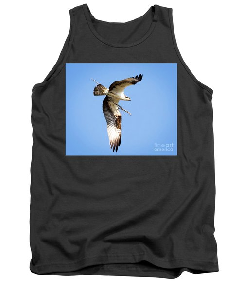 Tank Top featuring the photograph Osprey In Flight by Ricky L Jones