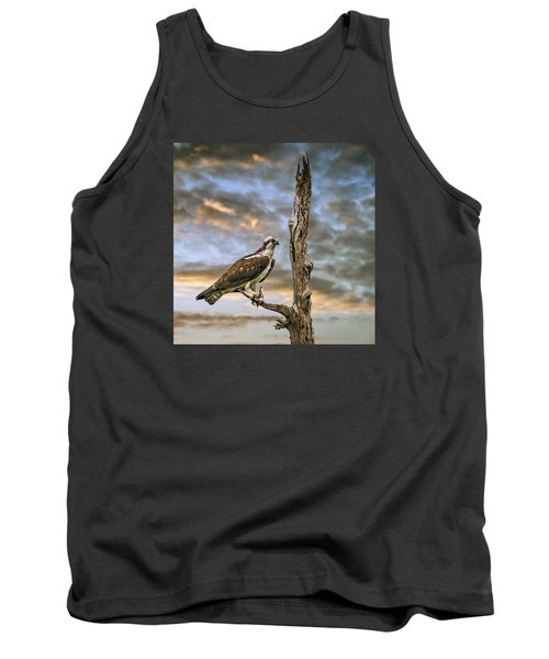 Tank Top featuring the photograph Osprey With Supper by Brian Tarr