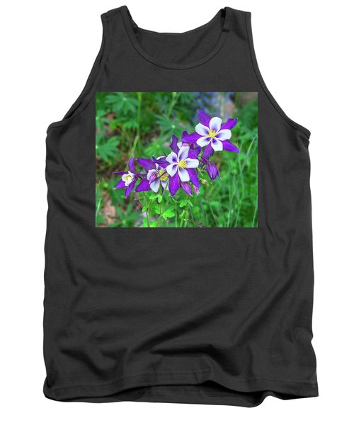 Our Gorgeous State Flower, Colorado Columbine  Tank Top