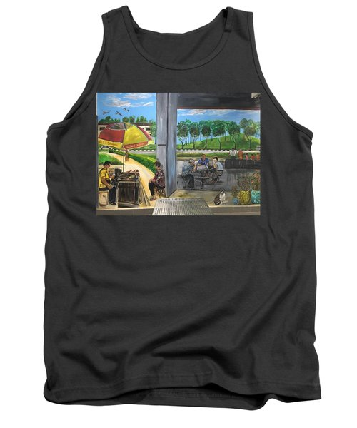 Our Home, Our Community Tank Top by Belinda Low