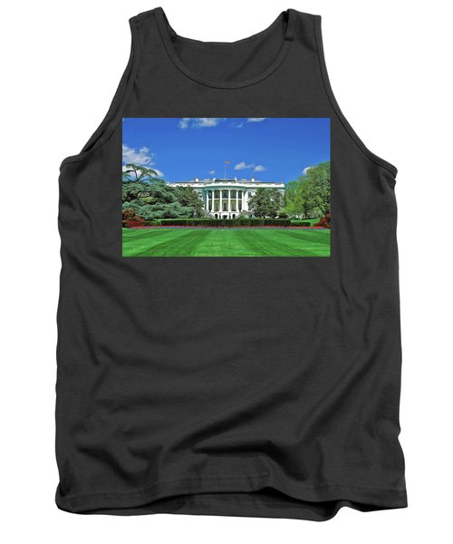 Tank Top featuring the painting Our White House by Harry Warrick