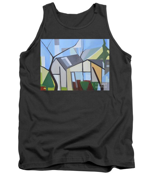 Out Back Down Oakwood Tank Top by Ron Erickson