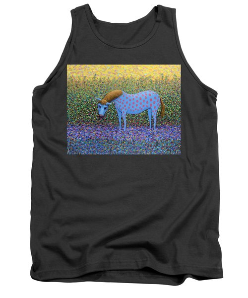 Tank Top featuring the painting Out Of The Pasture by James W Johnson