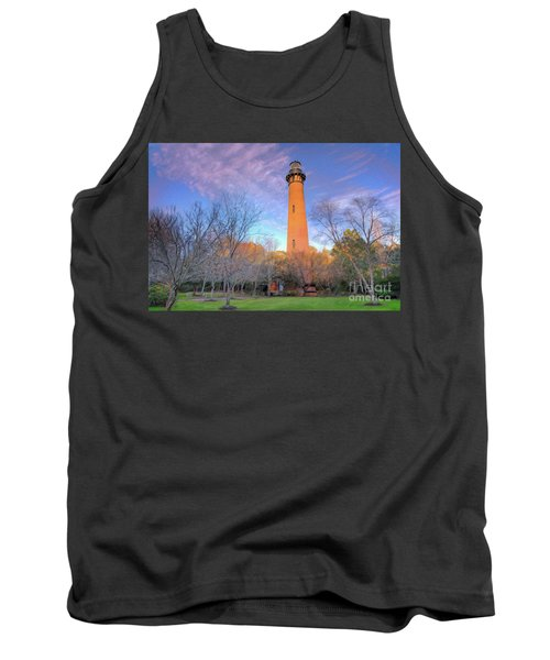 Outer Banks Winter At The Currituck Lighthouse Ap Tank Top by Dan Carmichael