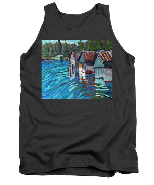 Outlet Row Of Boat Houses Tank Top