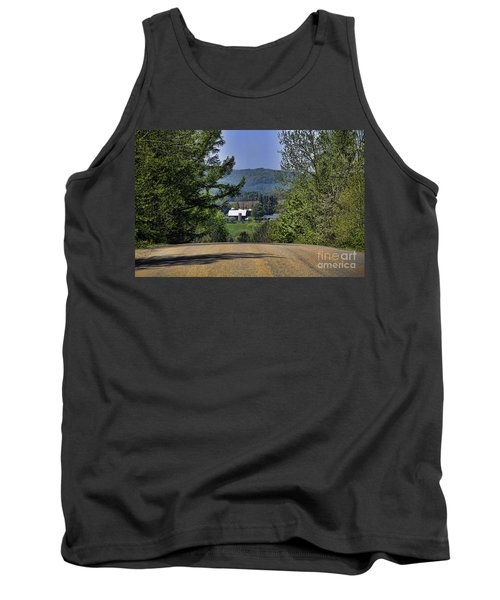 Tank Top featuring the photograph Over The Hill by Jim Lepard
