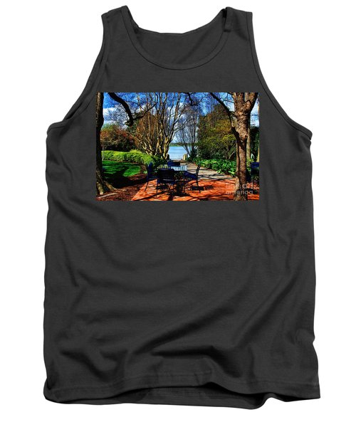 Overlook Cafe Tank Top by Diana Mary Sharpton