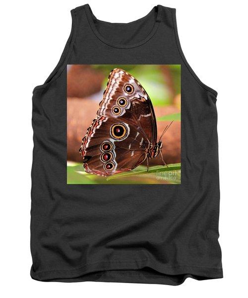 Owl Butterfly Portrait Tank Top