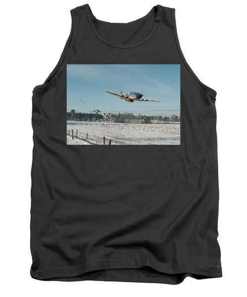 Tank Top featuring the digital art P51 Mustang - Bodney Blue Noses by Pat Speirs