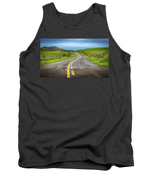 Pacific Coast Road To Tomales Bay Tank Top