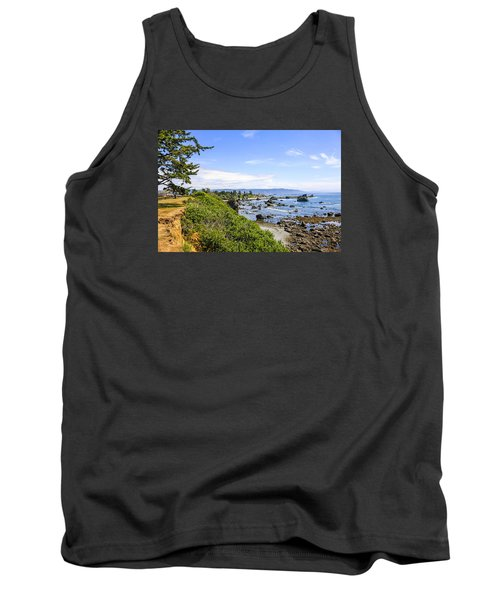 Pacific Coastline In California Tank Top by Chris Smith