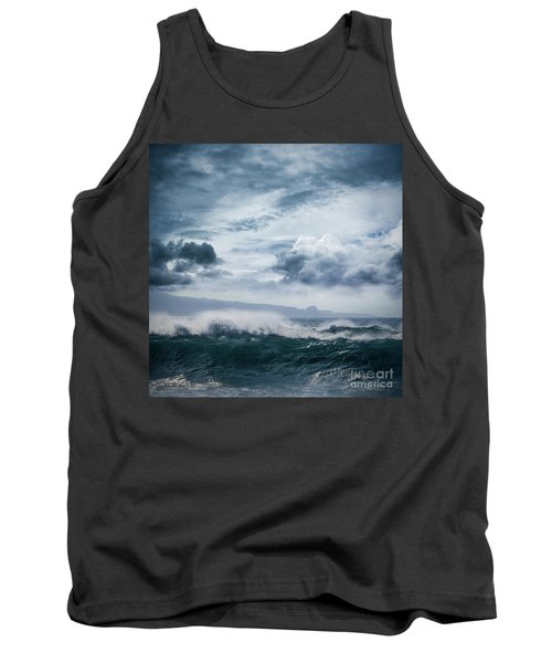 Tank Top featuring the photograph He Inoa Wehi No Hookipa  Pacific Ocean Stormy Sea by Sharon Mau