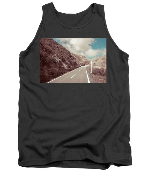 Tank Top featuring the photograph Paekakariki Hill Road by Joseph Westrupp