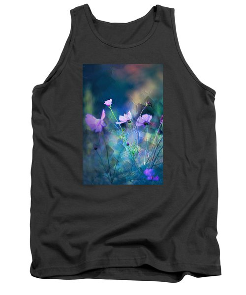 Painted Flowers Tank Top by John Rivera