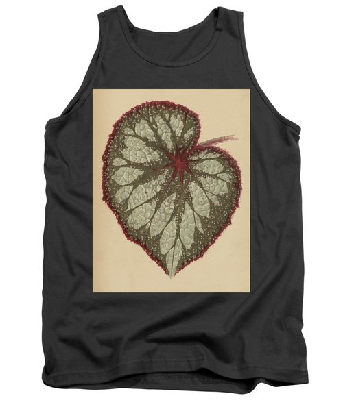 Painted Leaf Begonia Tank Top