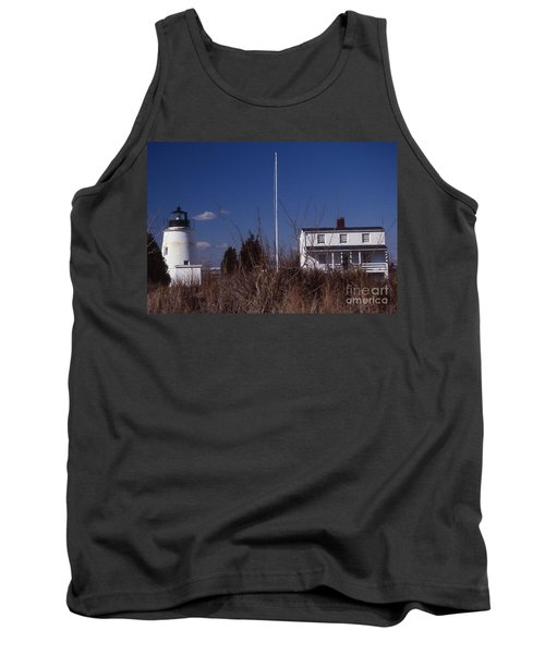 Painted Piney Point Lighthouse Tank Top