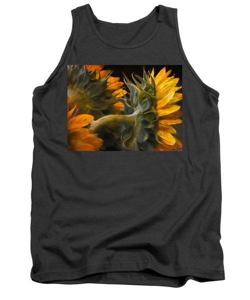 Painted Sun Flowers Tank Top by John Rivera