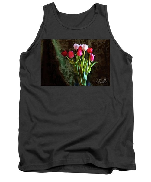Painted Tulips Tank Top by Joan Bertucci