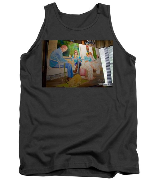 Painting Dogs On Park Avenue Tank Top