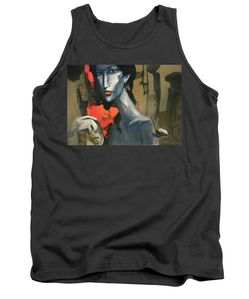 Painting Of The Lady _ 1 Tank Top by Behzad Sohrabi