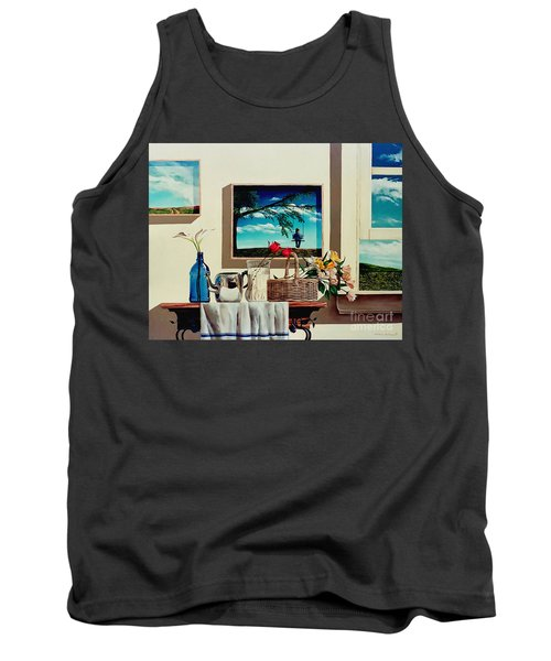 Tank Top featuring the painting Paintings Within A Painting by Christopher Shellhammer