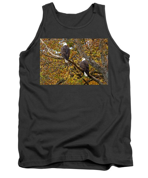 Pair Of Eagles In Autumn Tank Top