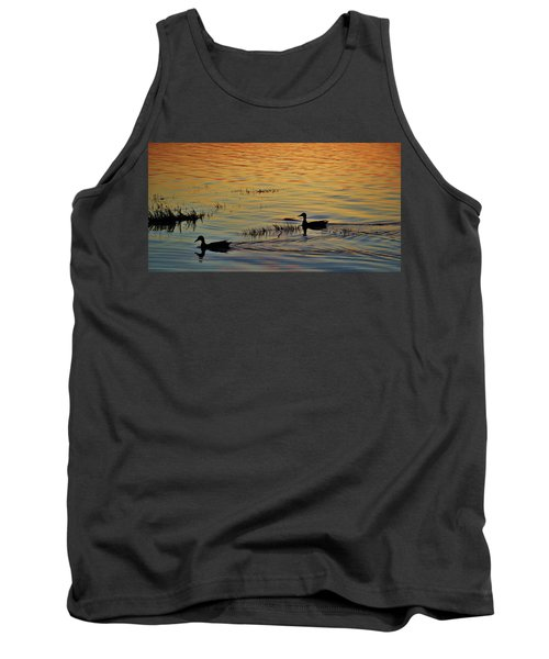 Pair Of Paddlers Tank Top by William Bartholomew