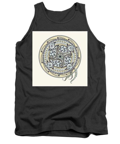 Paisley Balance Mandala Tank Top by Deborah Smith