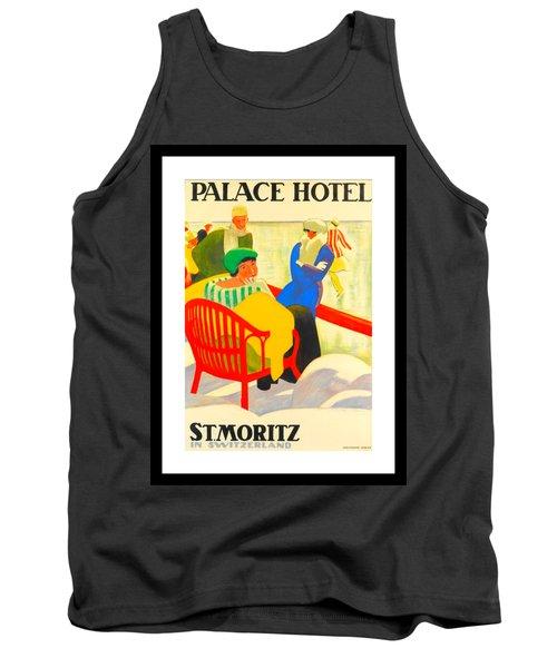 Palace Hotel St Moritz Emil Cardinaux 1920 Tank Top by Peter Gumaer Ogden Collection