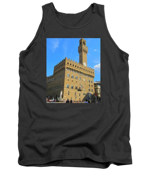 Palazzo Vecchio Florence Tank Top by Lisa Boyd