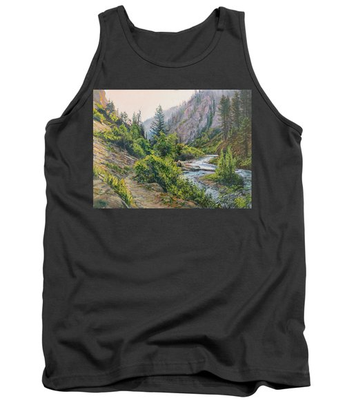 Tank Top featuring the painting Palisades Creek  by Steve Spencer