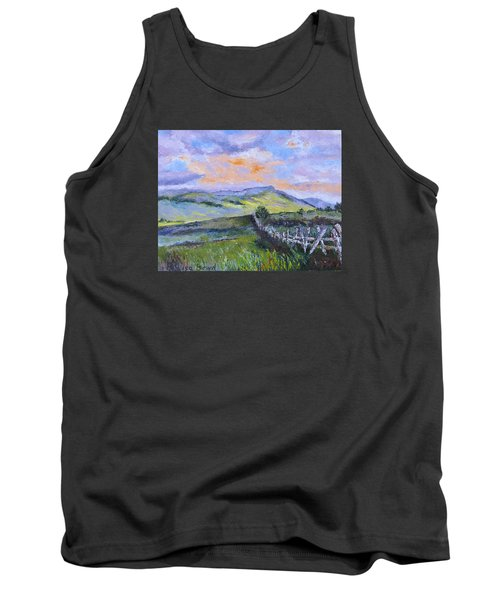 Pallet Knife Sunset Tank Top by Lisa Boyd